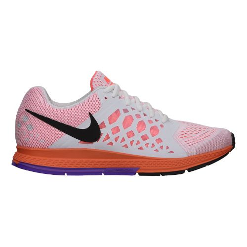 Womens Nike Air Zoom Pegasus 31 Running Shoe - White/Grape 7.5
