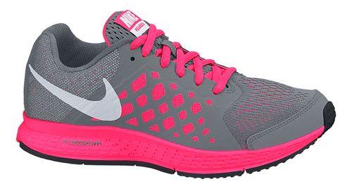 Kids Nike Air Zoom Pegasus 31 Running Shoe - Grey/Pink 5.5Y
