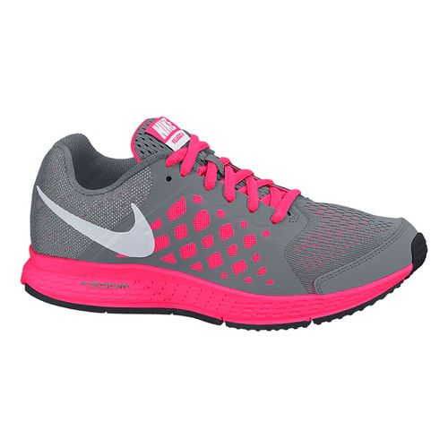 Kids Nike Air Zoom Pegasus 31 GS Running Shoe - Grey/Pink 4.5