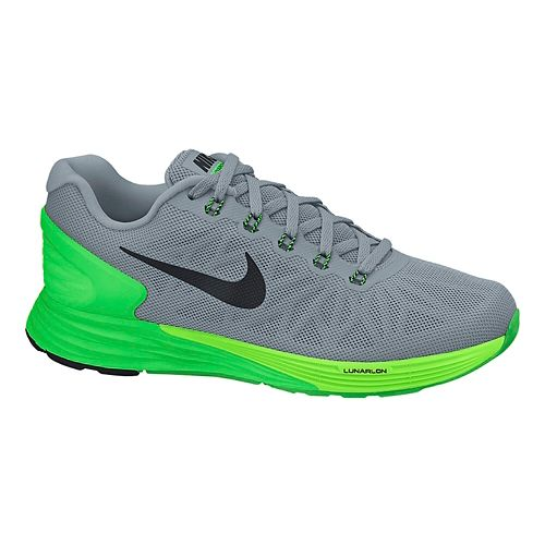 Mens Nike LunarGlide 6 Running Shoe - Grey/Green 10.5