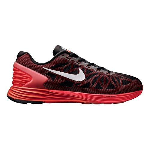Mens Nike LunarGlide 6 Running Shoe - Black/Red 12.5