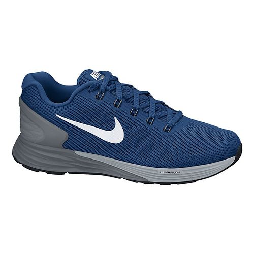 Mens Nike LunarGlide 6 Running Shoe - Blue/Grey 11.5