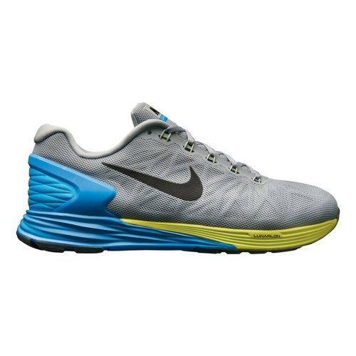 Mens Nike LunarGlide 6 Running Shoe - Grey/Blue 12.5