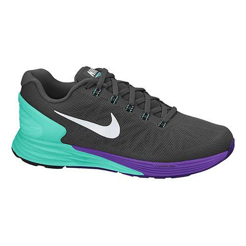 Womens Nike LunarGlide 6 Running Shoe - Charcoal/Turquoise 7.5