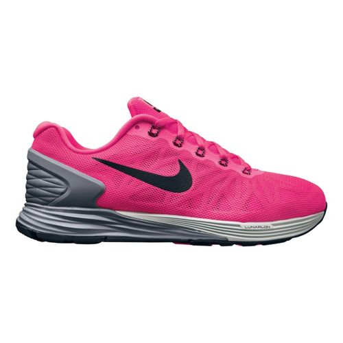 Womens Nike LunarGlide 6 Running Shoe - Hot Pink 7.5