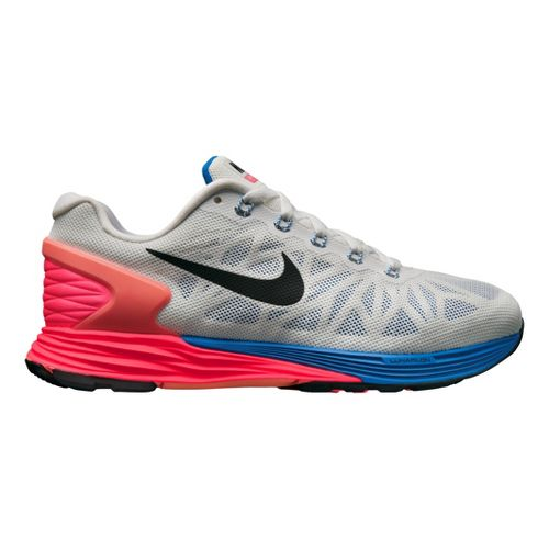 Womens Nike LunarGlide 6 Running Shoe - White/Pink 9