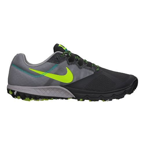 Mens Nike Air Zoom Wildhorse 2 Trail Running Shoe - Grey/Black 8