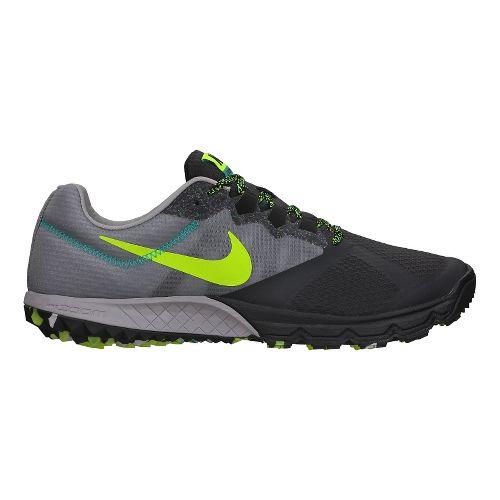 Mens Nike Air Zoom Wildhorse 2 Trail Running Shoe - Grey/Black 9