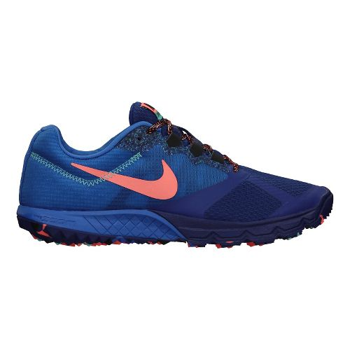 Womens Nike Air Zoom Wildhorse 2 Trail Running Shoe - Navy/Turquoise 8.5