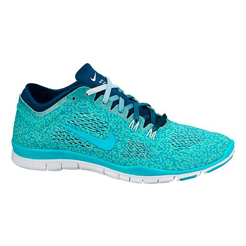 Womens Nike Free 5.0 TR Fit 4 Print Cross Training Shoe - Turquoise 7.5