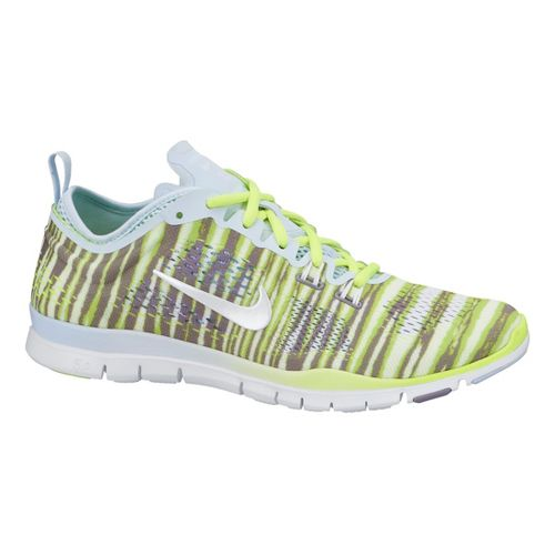 Womens Nike Free 5.0 TR Fit 4 Print Cross Training Shoe - Volt 7.5