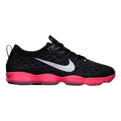 Womens Nike Zoom Fit Agility Cross Training Shoe - Black/Pink 10.5