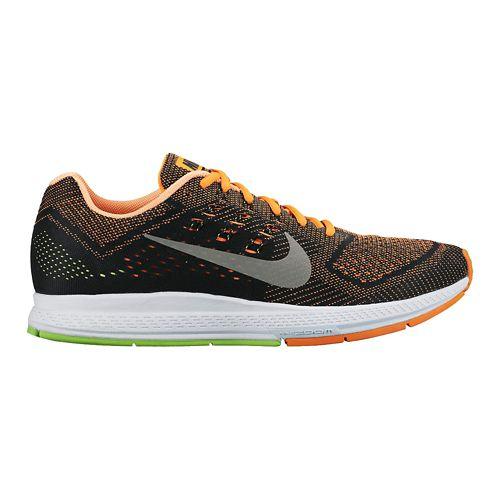 Mens Nike Air Zoom Structure 18 Running Shoe - Orange/Black 8
