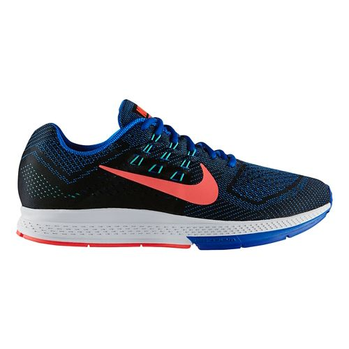 Mens Nike Air Zoom Structure 18 Running Shoe - Blue 10