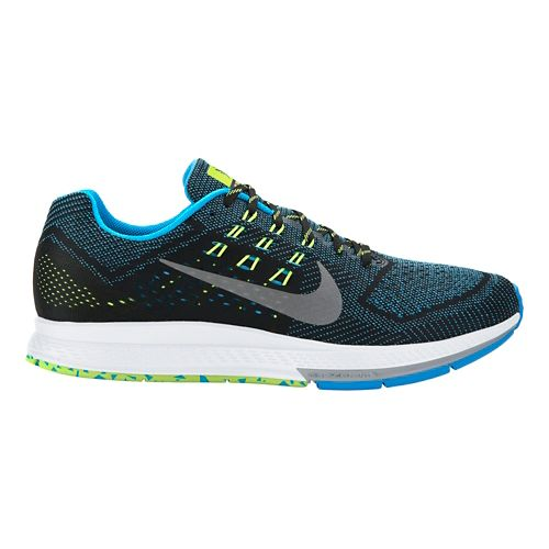 Mens Nike Air Zoom Structure 18 Running Shoe - Blue/Black 10