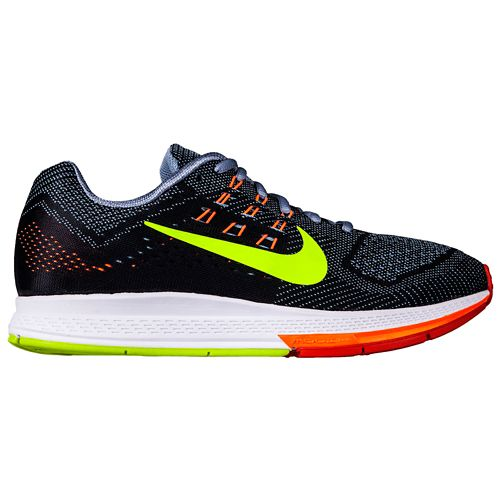Mens Nike Air Zoom Structure 18 Running Shoe - Blue/Orange 9
