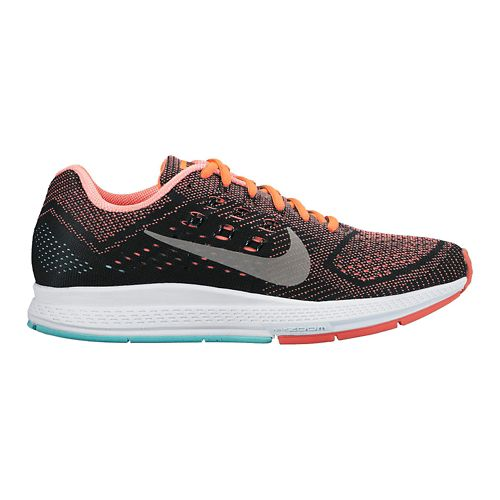 Womens Nike Air Zoom Structure 18 Running Shoe - Black/Lava 10.5