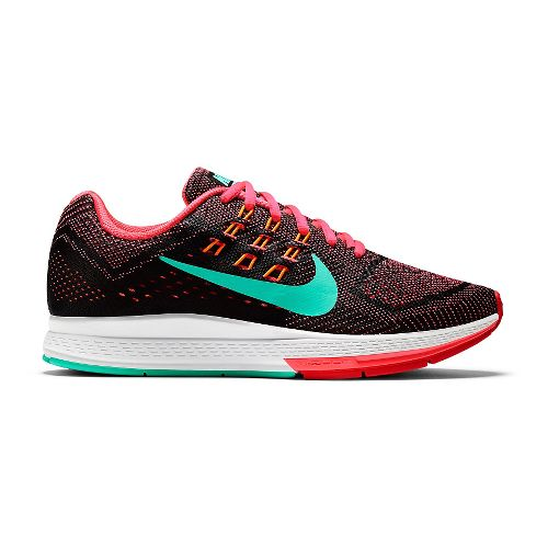 Womens Nike Air Zoom Structure 18 Running Shoe - Black/Pink 7