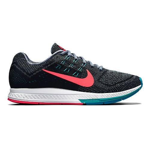 Womens Nike Air Zoom Structure 18 Running Shoe - Black/Lava 7