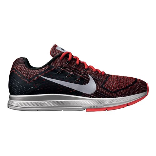 Mens Nike Air Zoom Structure 18 Flash Running Shoe - Black/Red 8.5