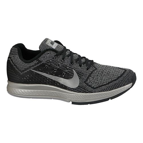 Mens Nike Air Zoom Structure 18 Flash Running Shoe - Black/Silver 14