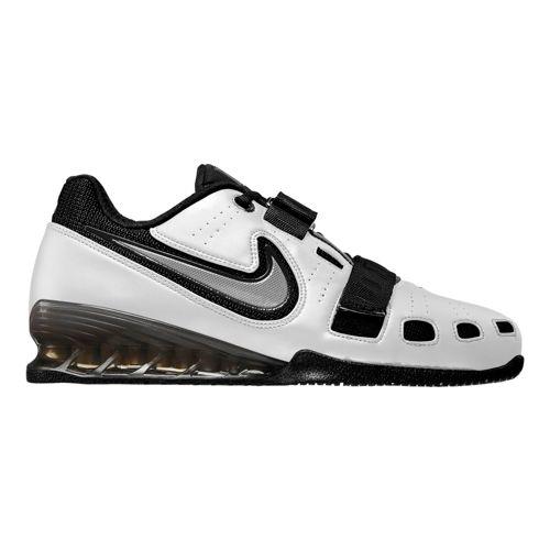 Mens Nike Romaleos II Power Lifting Cross Training Shoe - White/Black 9.5
