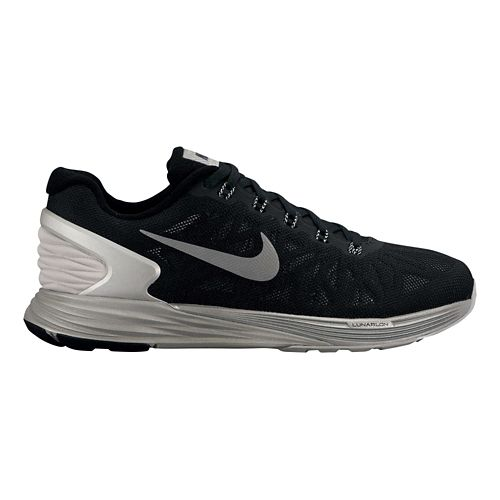 Mens Nike LunarGlide 6 Flash Running Shoe - Black/Silver 11