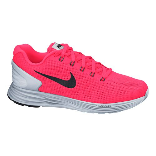Womens Nike LunarGlide 6 Flash Running Shoe - Pink/Silver 10.5
