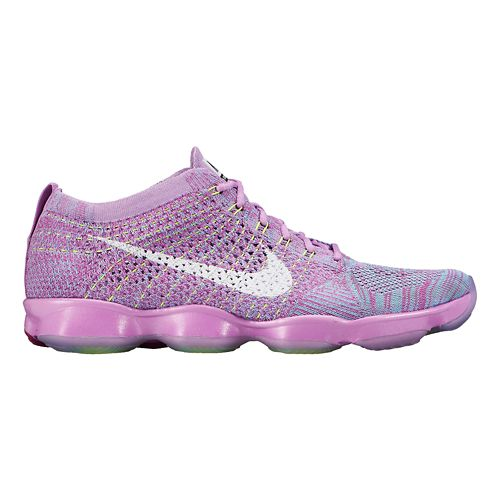 Womens Nike Flyknit Zoom Agility Cross Training Shoe - Fuchsia 9
