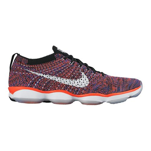 Womens Nike Flyknit Zoom Agility Cross Training Shoe - Bright Crimson/Black 7.5