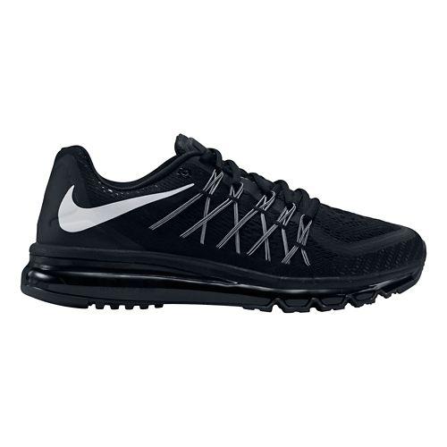 Mens Nike Air Max 2015 Running Shoe - Black/White 10