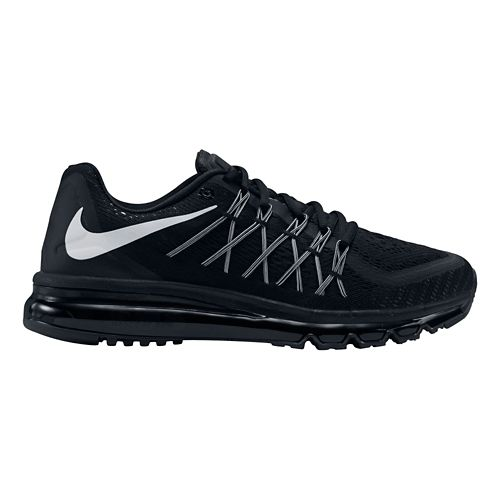 Mens Nike Air Max 2015 Running Shoe - Black/White 10.5