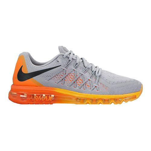 Mens Nike Air Max 2015 Running Shoe - Grey/Orange 9