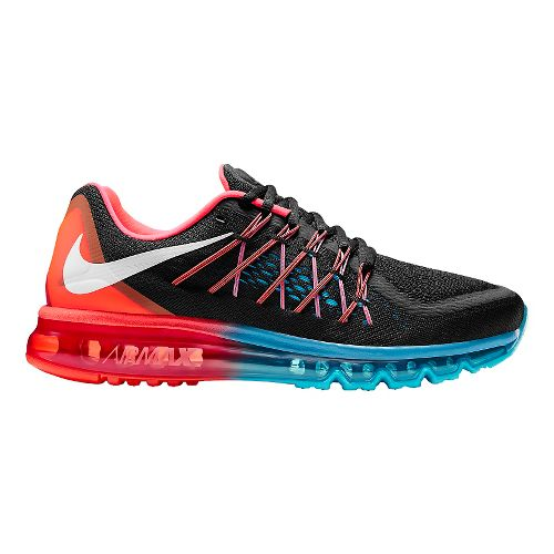 Mens Nike Air Max 2015 Running Shoe - Black/Bright Crimson 9