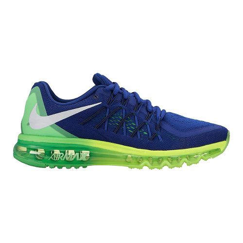 Mens Nike Air Max 2015 Running Shoe - Blue/Green 11.5