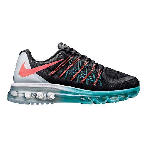 Womens Nike Air Max 2015 Running Shoe - Black/White 10.5