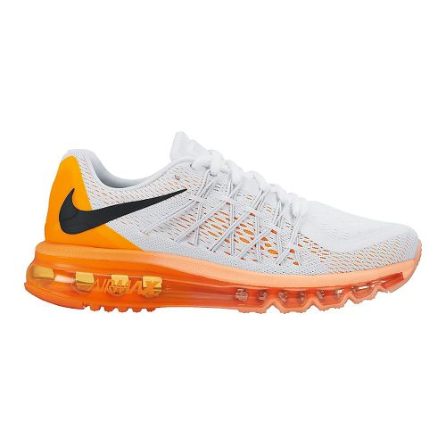 Womens Nike Air Max 2015 Running Shoe - White/Citrus 9.5