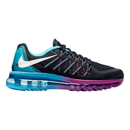 Womens Nike Air Max 2015 Running Shoe - Black/Blue 7.5