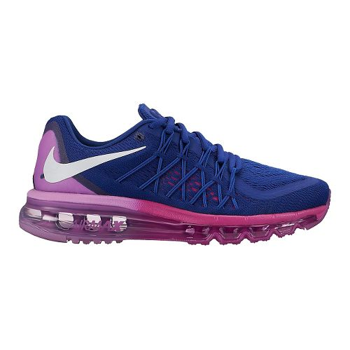 Womens Nike Air Max 2015 Running Shoe - Black/White 7.5