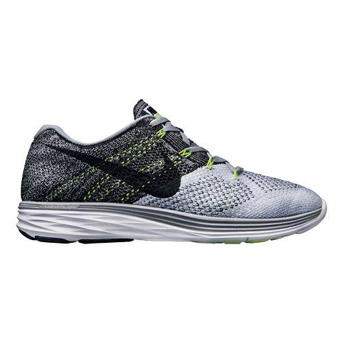 Mens Nike Flyknit Lunar 3 Running Shoe - Grey 12.5