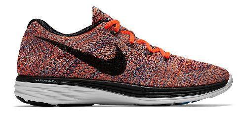 Mens Nike Flyknit Lunar 3 Running Shoe - Crimson/Concord 11.5