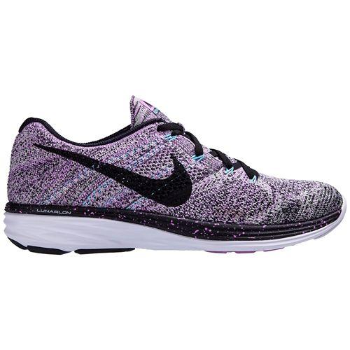 Womens Nike Flyknit Lunar 3 Running Shoe - Purple 9