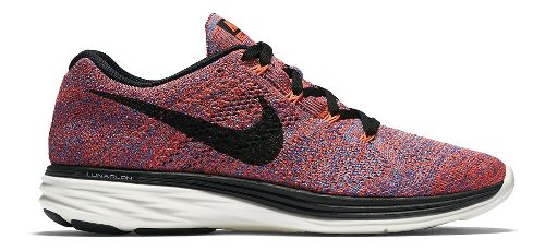 Womens Nike Flyknit Lunar 3 Running Shoe - Multicolor 10