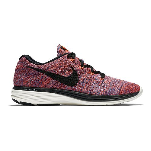 Womens Nike Flyknit Lunar 3 Running Shoe - Multicolor 9