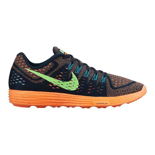 Mens Nike LunarTempo Running Shoe - Navy/Orange 10.5