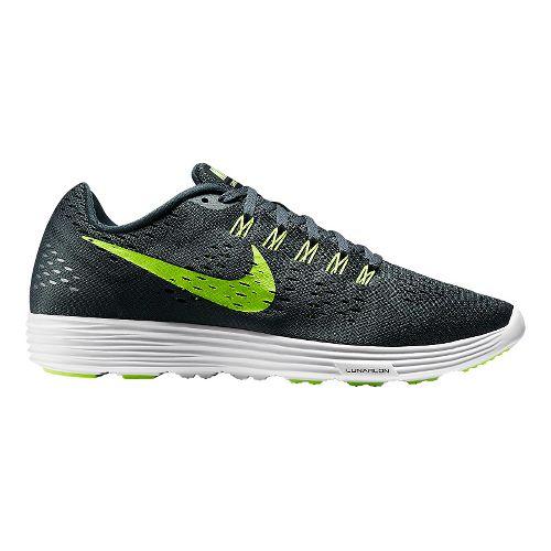 Mens Nike LunarTempo Running Shoe - Charcoal/Volt 8