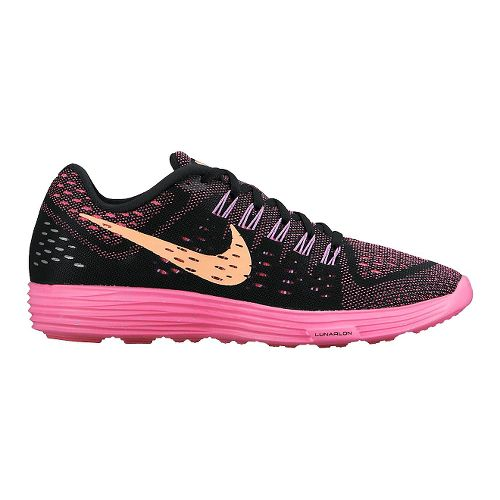 Womens Nike LunarTempo Running Shoe - Black/Pink 7