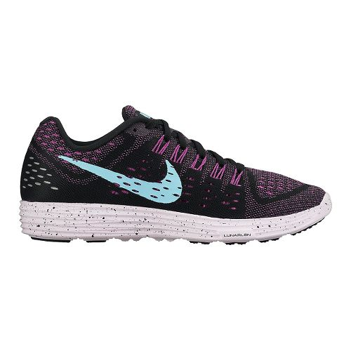 Womens Nike LunarTempo Running Shoe - Black/Pink 7.5
