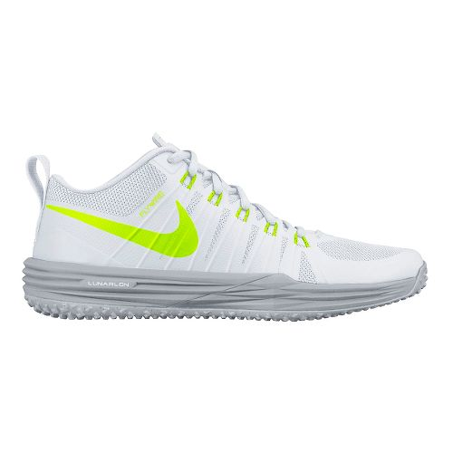 Mens Nike Lunar TR1 Cross Training Shoe - White/Volt 12.5