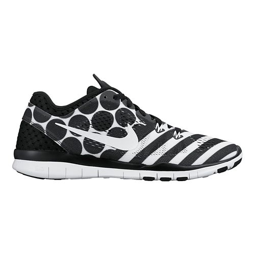 Womens Nike Free 5.0 TR Fit 5 Print Cross Training Shoe - Black/White 6